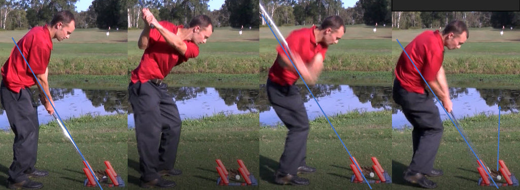 Using the slot it golf swing trainer with an 8-iron