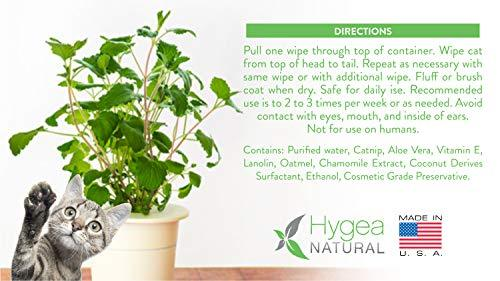 Natural Cat Bath Wipes with Catnip Essential Oil by Hygea
