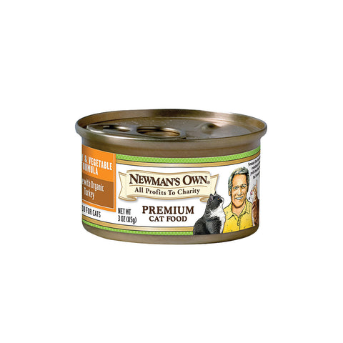 Newman's Own Turkey and Vegetable - Case Of 24 - 3 Oz.