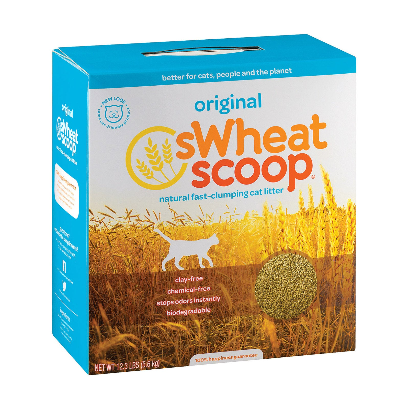 A Swheat Scoop Natural Cat Litter - Case Of 4 - 12.3 Lb.