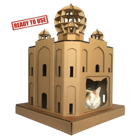 Taj Mahal Cardboard Cat House – Ready to Use