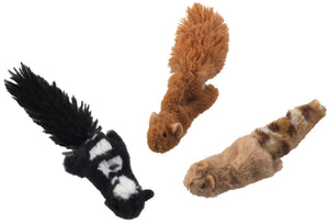 Skinneeez Forest Creatures For Cats - Squirrel, Chipmunk or Skunk