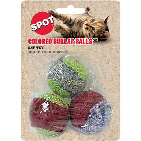 Colored Burlap Balls - 3 pack