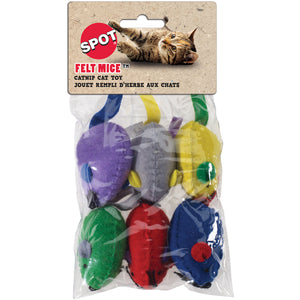 Felt Mice With - 6 pack