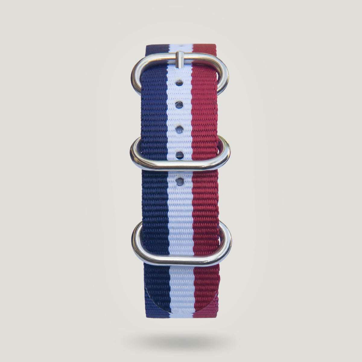 Nylon Strap in Blue/White/Red - 20mm