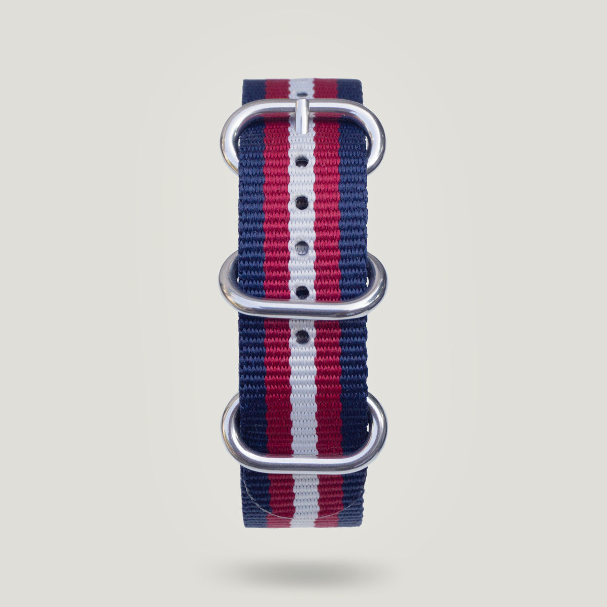 Nylon Strap in Blue/Red/White - 20mm