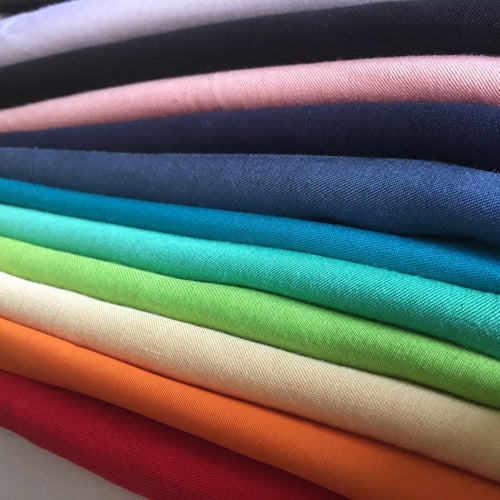 100% Tencel Lyocell Gabardine Twill 60 Medium Weight Woven Fabric By the Yard