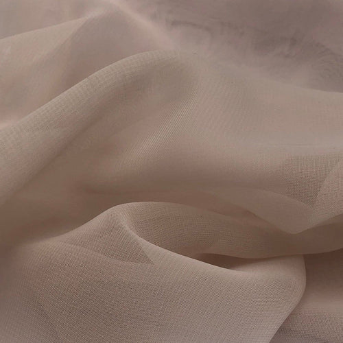 44 Solid Cream Ivory Nylon Sheer & See Through Light Weight Woven Fabric By the Yard