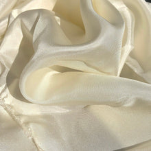 Load image into Gallery viewer, 46 Cream Ivory White 100% Silk Light Solid Woven Fabric By the Yard