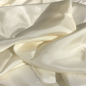 46 Cream Ivory White 100% Silk Light Solid Woven Fabric By the Yard