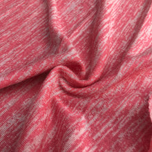 Load image into Gallery viewer, 46 Light Pink & White 100% Acrylic Space Dye Striped Jersey Loose Knit Fabric By the Yard
