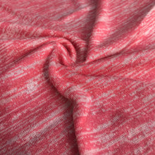 "Load image into Gallery viewer, 46"" Pink & White 100% Acrylic Space Dye Striped Jersey Loose Knit Fabric By Yard - APC Fabrics"