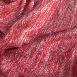 46 Light Pink & White 100% Acrylic Space Dye Striped Jersey Loose Knit Fabric By the Yard