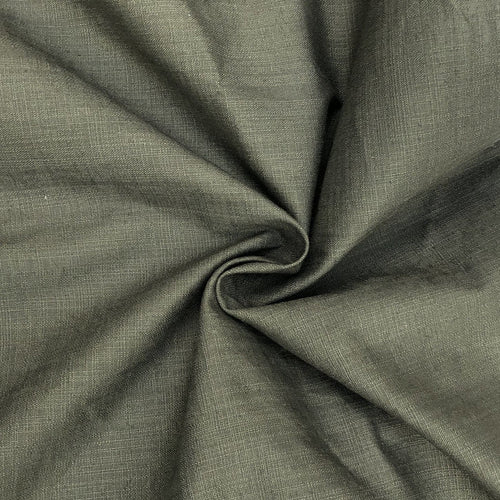 48 Cotton & Spandex Lycra Stretch Blend Army Green Woven Fabric By the Yard - Fabric