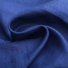 Load image into Gallery viewer, 54 Blue Linen Flax Rayon Blend Lithuanian Woven Fabric By the Yard