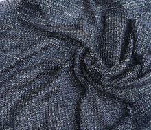 "Load image into Gallery viewer, 54"" Blue Lyocell Tencel Spandex Lycra Rolex Mesh Light Knit Fabric By the Yard - APC Fabrics"