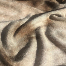 Load image into Gallery viewer, 54 Cream Beige Brown & White 100% High Quality Polyester Light Jersey Knit Fabric By the Yard