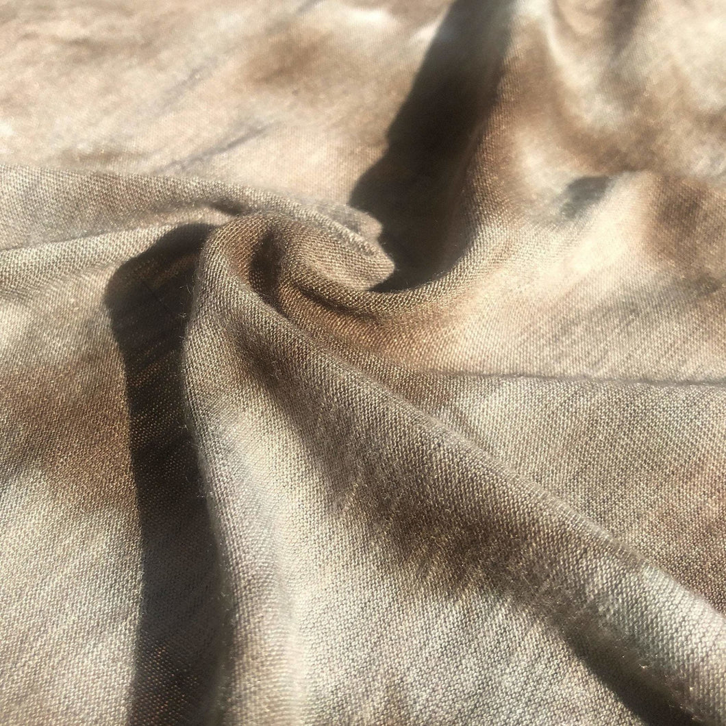 54 Cream Beige Brown & White 100% High Quality Polyester Light Jersey Knit Fabric By the Yard