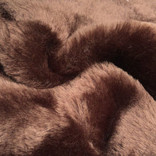 Load image into Gallery viewer, 54 Dark Brown Imitation Bear Fur Skin Heavy Weight Woven Fabric By the Yard