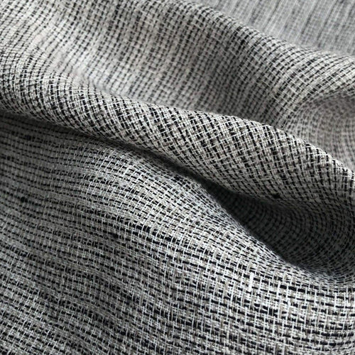 54 Gray & Black Striped 100% Linen Flax Heavy Lithuanian Woven Fabric By Yard