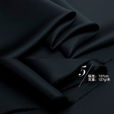 54 Japanese Tencel Bemberg Twill Lining Fabric By the Yard - Black