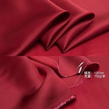Load image into Gallery viewer, 54 Japanese Tencel Bemberg Twill Lining Fabric By the Yard - Red