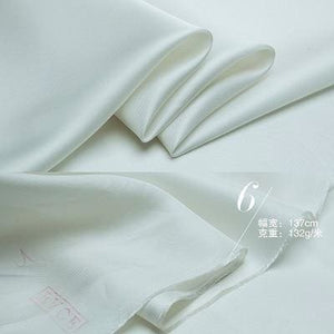 54 Japanese Tencel Bemberg Twill Lining Fabric By the Yard - White