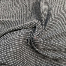 "Load image into Gallery viewer, 54"" Modal Spandex Stretch Gauze Heather Gray & White Striped Knit Fabric By Yard - APC Fabrics"