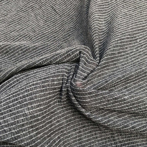 "54"" Modal Spandex Stretch Gauze Heather Gray & White Striped Knit Fabric By Yard - APC Fabrics"