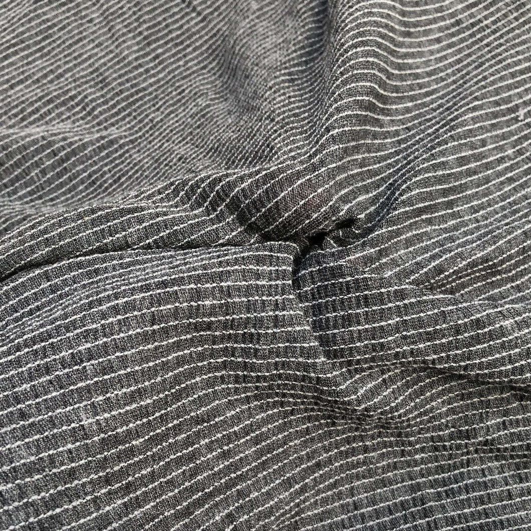 54 Modal Spandex Stretch Gauze Heather Gray & White Striped Knit Fabric By Yard - Fabric