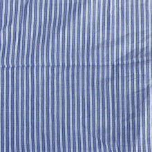 "Load image into Gallery viewer, 56"" 100% Cotton Striped Yarn Dyed Blue & White Light Woven Fabric By the Yard - APC Fabrics"