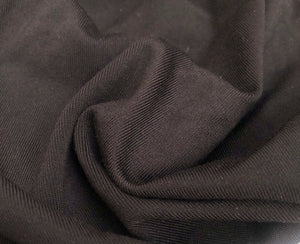 56 Black Nylon Spandex Elastane Blend TTY Brushed Woven Fabric By the Yard
