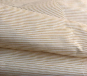 "56"" Gold Yellow White 100% Silk Striped Light Woven Fabric By the Half-Yard - APC Fabrics"