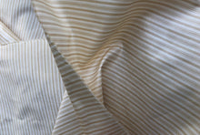 "Load image into Gallery viewer, 56"" Gold Yellow White 100% Silk Striped Light Woven Fabric By the Half-Yard - APC Fabrics"