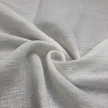 "Load image into Gallery viewer, 56"" Off White Ivory & White 100% Cotton Gauze Wrinkly Woven Fabric By the Yard - APC Fabrics"