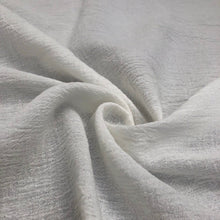 "Load image into Gallery viewer, 56"" Off White Ivory 100% Cotton Gauze Wrinkly Woven Fabric By the Yard - APC Fabrics"