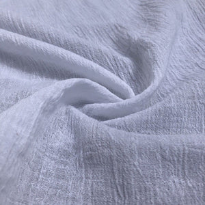 56 Off White Ivory & White 100% Cotton Gauze Wrinkly Woven Fabric By the Yard