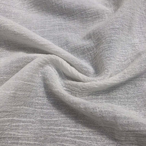 "56"" Off White Ivory 100% Cotton Gauze Wrinkly Woven Fabric By the Yard - APC Fabrics"
