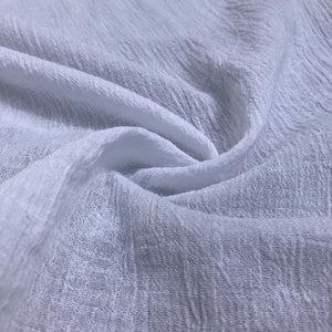 "56"" White Ivory 100% Cotton Gauze Wrinkly Woven Fabric By the Yard - APC Fabrics"
