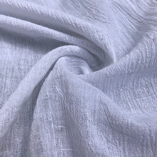 "Load image into Gallery viewer, 56"" White Ivory 100% Cotton Gauze Wrinkly Woven Fabric By the Yard - APC Fabrics"