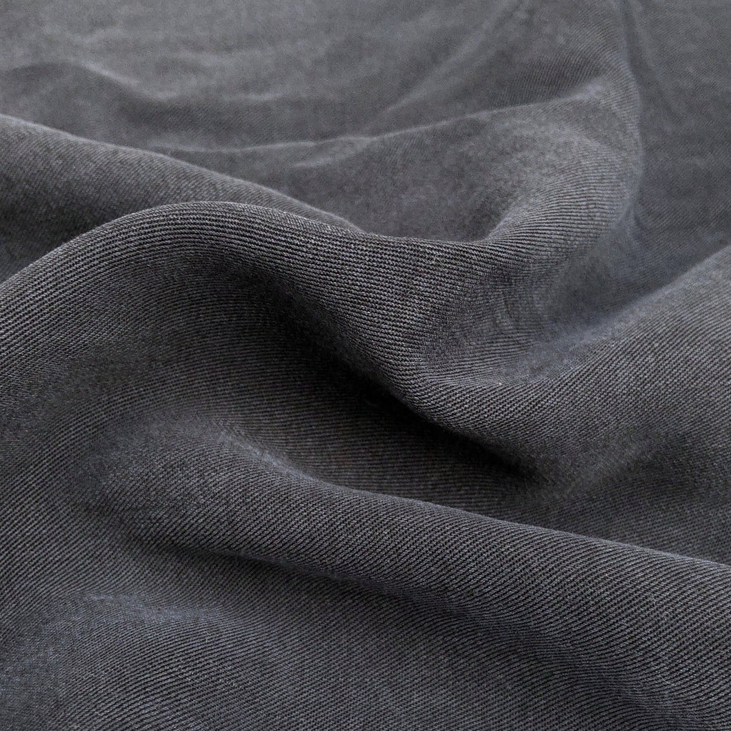 58 100% Lyocell Tencel Gabardine Twill Dark Blue Woven Fabric By the Yard - Fabric