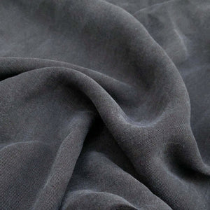 "58"" 100% Lyocell Tencel Gabardine Twill Dark Blue Woven Fabric By the Yard - APC Fabrics"