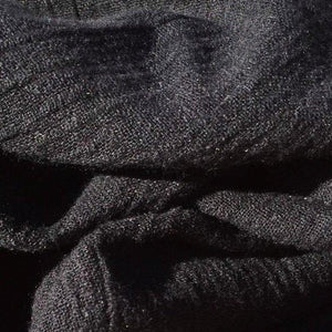 "58"" Black 100% Lyocell Tencel Crepon Gauze Light Woven Fabric By the Yard - APC Fabrics"
