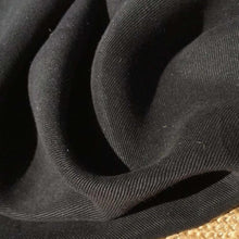 Load image into Gallery viewer, 58 Black 100% Lyocell Tencel Gabardine Twill Enzyme Washed Woven Fabric By Yard