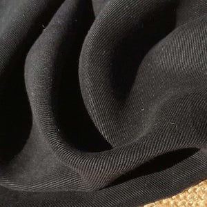 58 Black 100% Lyocell Tencel Gabardine Twill Enzyme Washed Woven Fabric By Yard