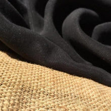 "Load image into Gallery viewer, 58"" Black 100% Lyocell Tencel Gabardine Twill Enzyme Washed Woven Fabric By Yard - APC Fabrics"