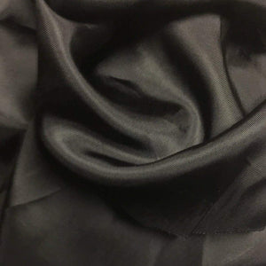 "58"" Black Enzyme Washed Rayon Viscose Bemberg Light Woven Fabric By the Yard - APC Fabrics"