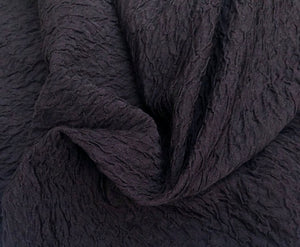 "58"" Black Polyester Elastane Stretch Wrinkle ESP kDk Knit De Knit Fabric By the Yard - APC Fabrics"