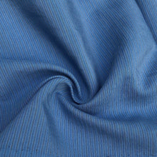 "Load image into Gallery viewer, 58"" Cotton Lyocell Tencel Blend Striped Ocean Blue Woven Fabric By the Yard - APC Fabrics"