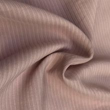 "Load image into Gallery viewer, 58"" Cotton Lyocell Tencel Blend Striped Pink & White Woven Fabric By the Yard - APC Fabrics"